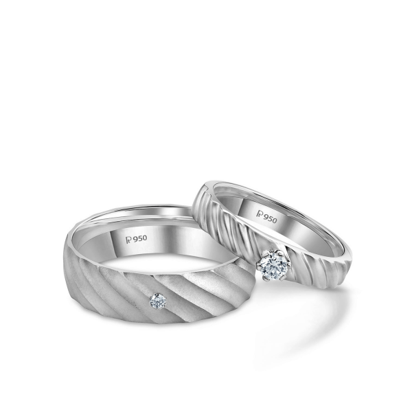 Beautiful Platinum Love Bands for Couple 20PTLBO01/20PTLBO02