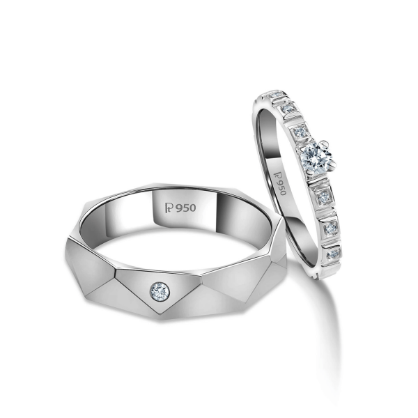 Beautiful Platinum Love Bands for Couple 20PTLBO03/20PTLBO04