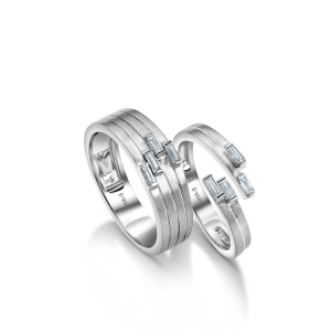 Beautiful Platinum Love Bands for Couple 20PTLBP05/20PTLBP06