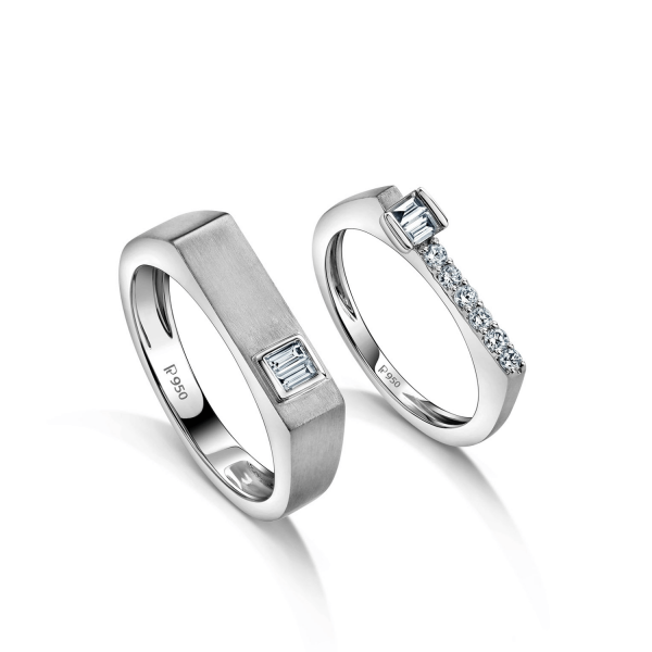 Beautiful Platinum Love Bands for Couple 20PTLBP07/20PTLBP08