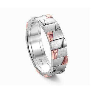 Amazing Platinum Ring for Men 19PTMOR25