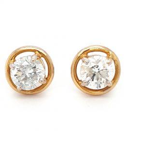 Solitaire Diamond Earrings For Women DT246