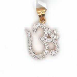 Om Diamond Pendant for Women
