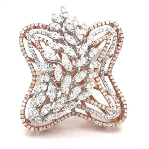 Luxurious Cocktail Diamond Ring For Women