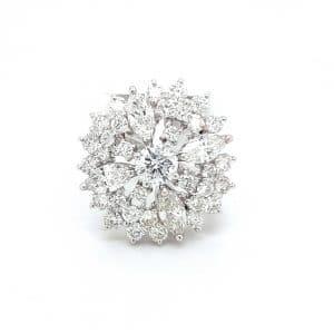 Unique Cocktail Diamond Ring For Women