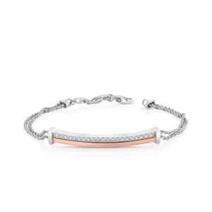 Impressive Platinum Bracelet for Women 20PTEBB05