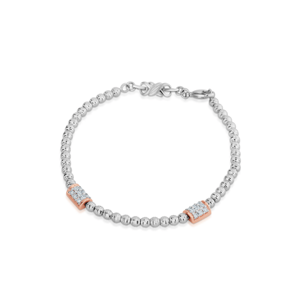 Impressive Platinum Bracelet for Women 20PTEBB06