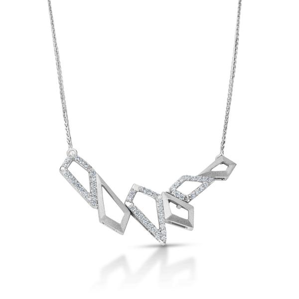 Dazzling Platinum Necklace for Women 20PTEBN08