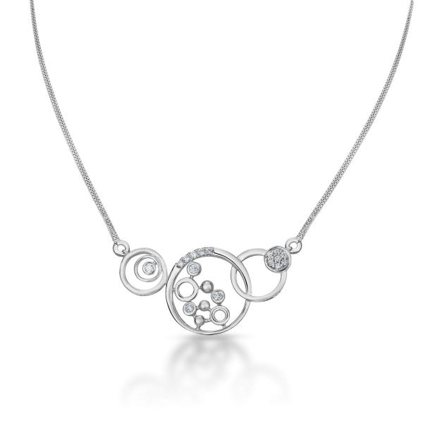 Dazzling Platinum Necklace for Women 20PTEKGN17