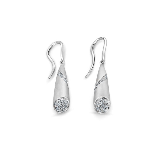 Flawless Platinum Earring for Women 20PTEKPE24