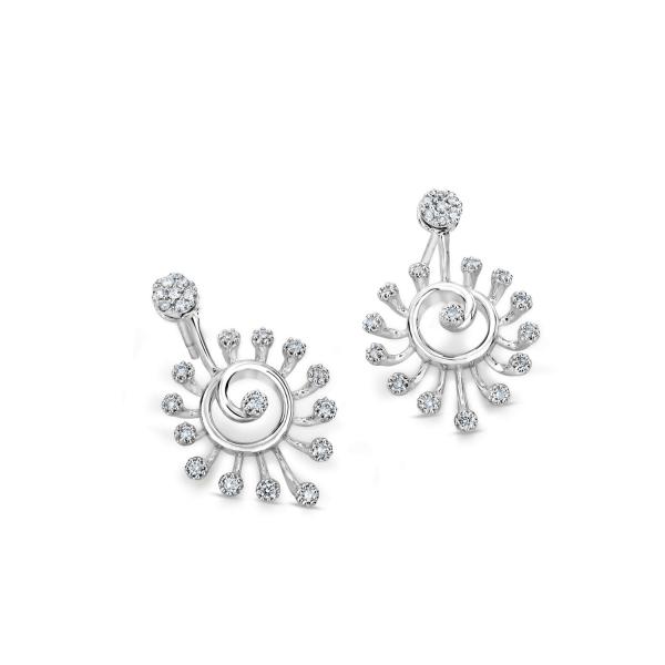 Flawless Platinum Earring for Women 20PTEKPE25