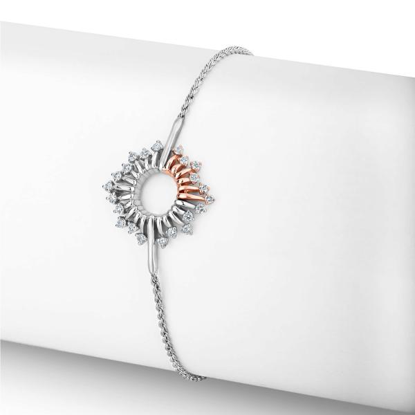 Impressive Platinum Bracelet for Women 20PTEOB27