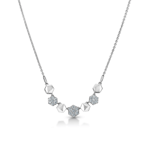 Dazzling Platinum Necklace for Women 20PTEPN31