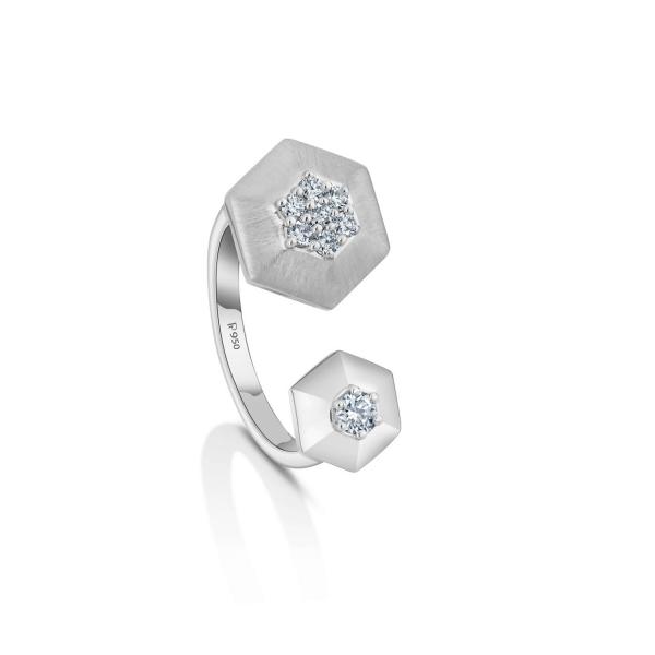 Gorgeous Platinum Ring for Women 20PTEPR33