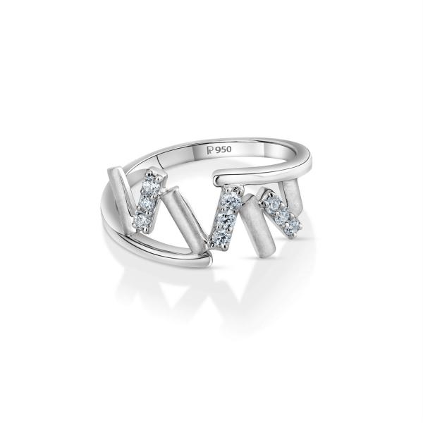 Gorgeous Platinum Ring for Women 20PTEPR34