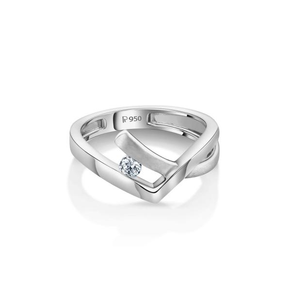 Gorgeous Platinum Ring for Women 20PTEPR35