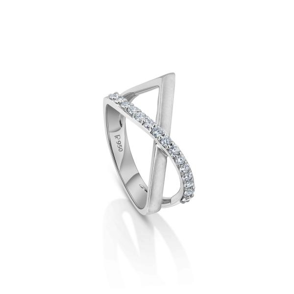 Gorgeous Platinum Ring for Women 20PTEPR36