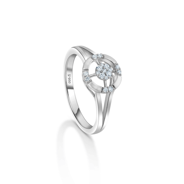 Gorgeous Platinum Ring for Women 20PTEUR44