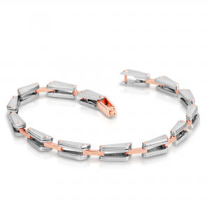 Stunning platinum bracelets for men 20PTMJB17
