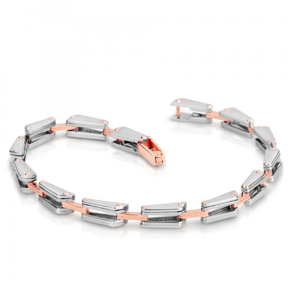 Stunning platinum bracelets for men 20PTMJB17
