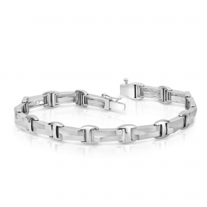 Stunning platinum bracelets for men 20PTMPB03