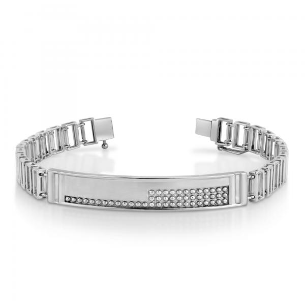 Stunning platinum bracelets for men 20PTMPB04