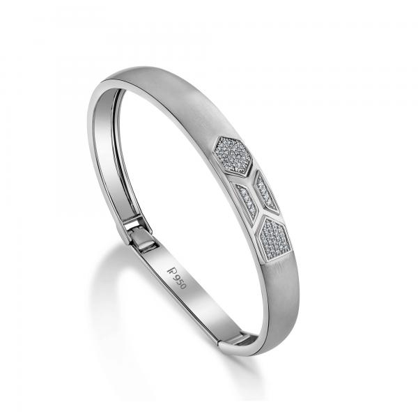 Stunning platinum bracelets for men 20PTMPK07