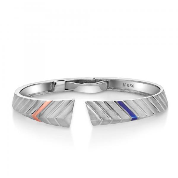 Stunning platinum bracelets for men 20PTMPPK08