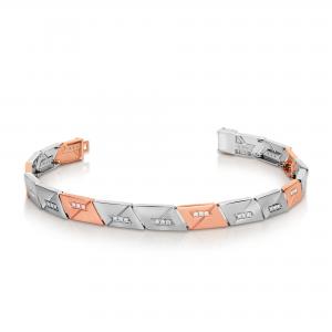 Stunning platinum bracelets for men 20PTMUB13