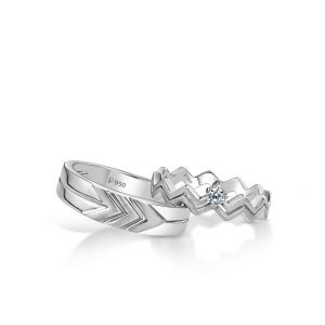 Beautiful Platinum Love Bands for Couple 20PTLBPP27/20PTLBPP28