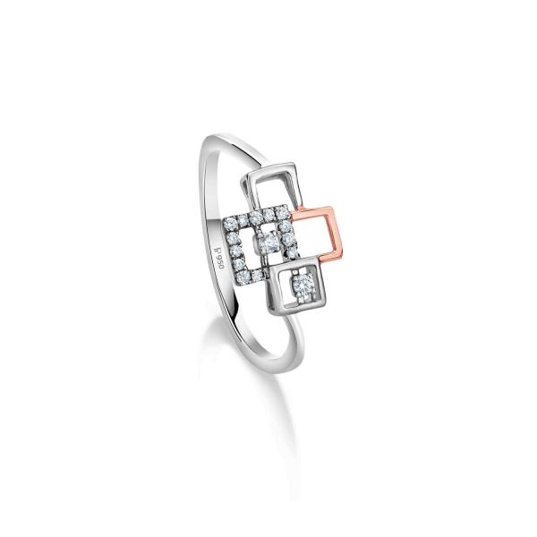 Gorgeous Platinum Ring for Women 20PTLBU41