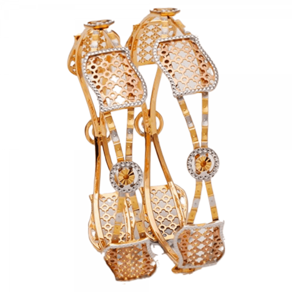 Dazzling Gold Bangles for Women A101409