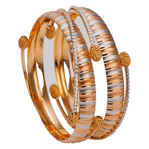 Dazzling Gold Bangles for Women A101451