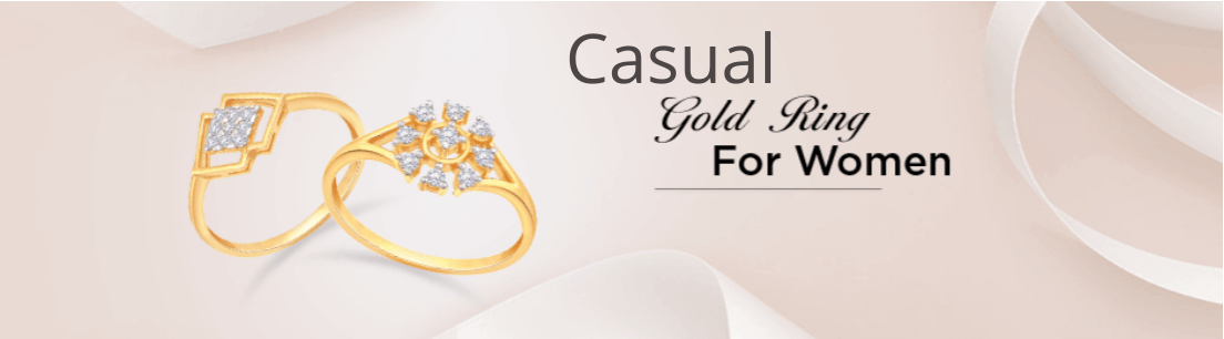 Casual Gold Ring for Women
