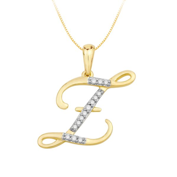 Beautiful Alphabet Initial Z Diamond Pendant for Women DEI1588