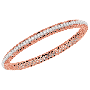Rose Gold Diamond Bangle DX0016