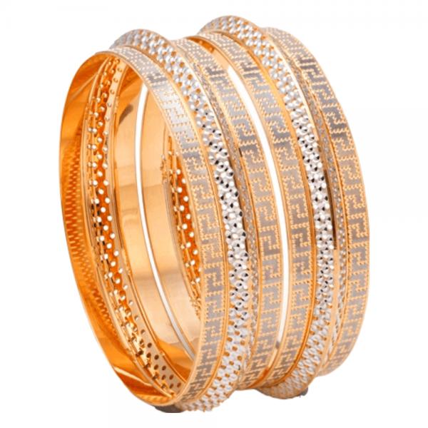 Dazzling Gold Bangles for Women E101209
