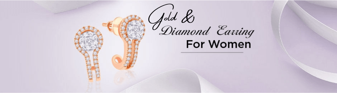 Gold & Diamond Earrings Jewellery Collection for Women
