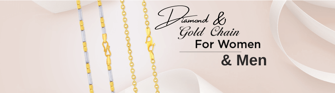 Gold, Diamond & Platinum Chain Jewellery for Women & Men