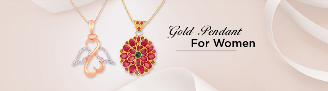 Gold Pendant for Women
