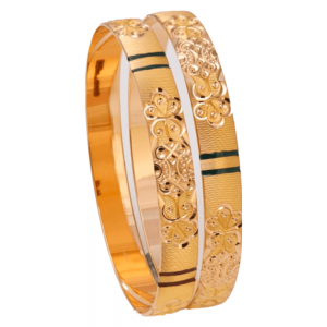 Dazzling Gold Bangles for Women HR101155