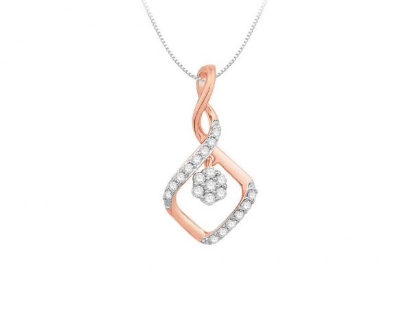 Diamond Pendant For Women IME074PR