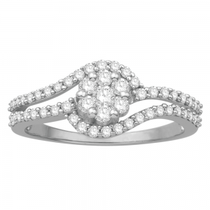 Gorgeous Casual Diamond Rings for Women JFG1470W