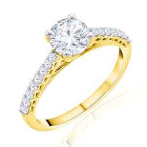 Premium Solitaire Diamond Engagement Ring for Women SMR02356