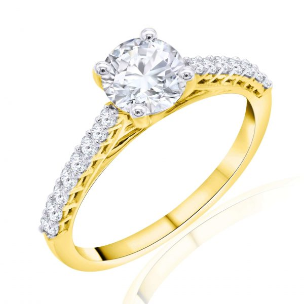 Premium Solitaire Diamond Engagement Ring for Women SMR02356