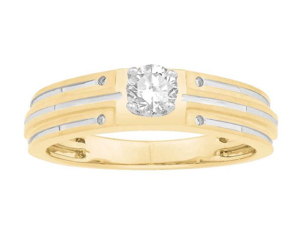 Men Solitaire Diamond Engagement Ring LWM00734CP
