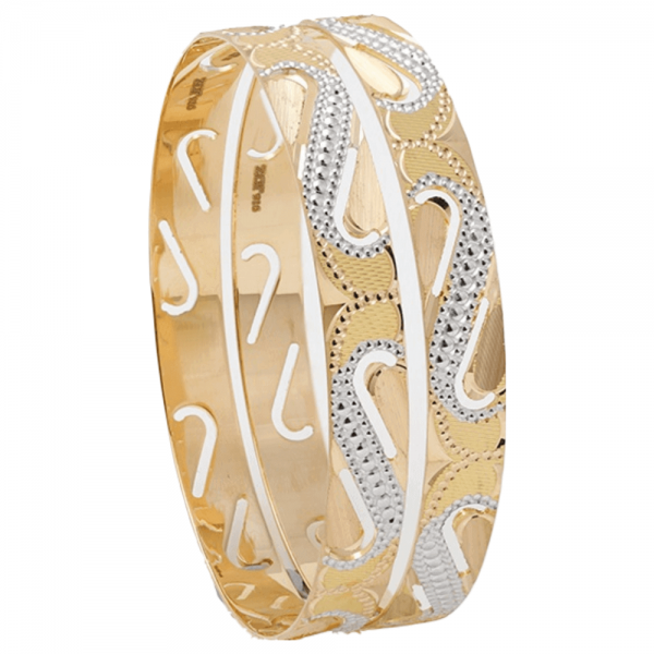 Dazzling Gold Bangles for Women P100262