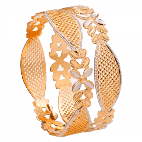 Dazzling Gold Bangles for Women P103073