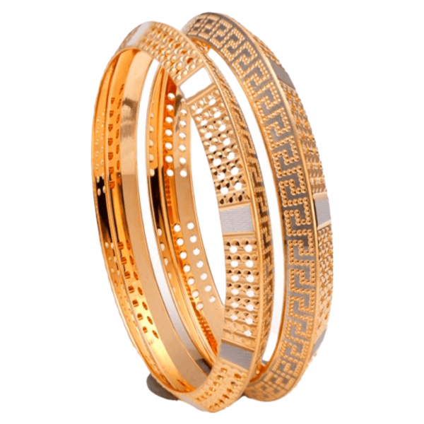 Dazzling Gold Bangles for Women P103192