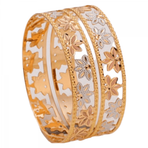 Dazzling Gold Bangles for Women P103200